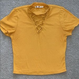 Tops - Lace-up t shirt